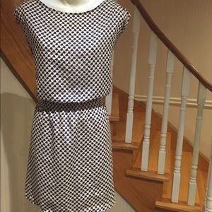 NWOT Cap sleeve slip on dress with heart design